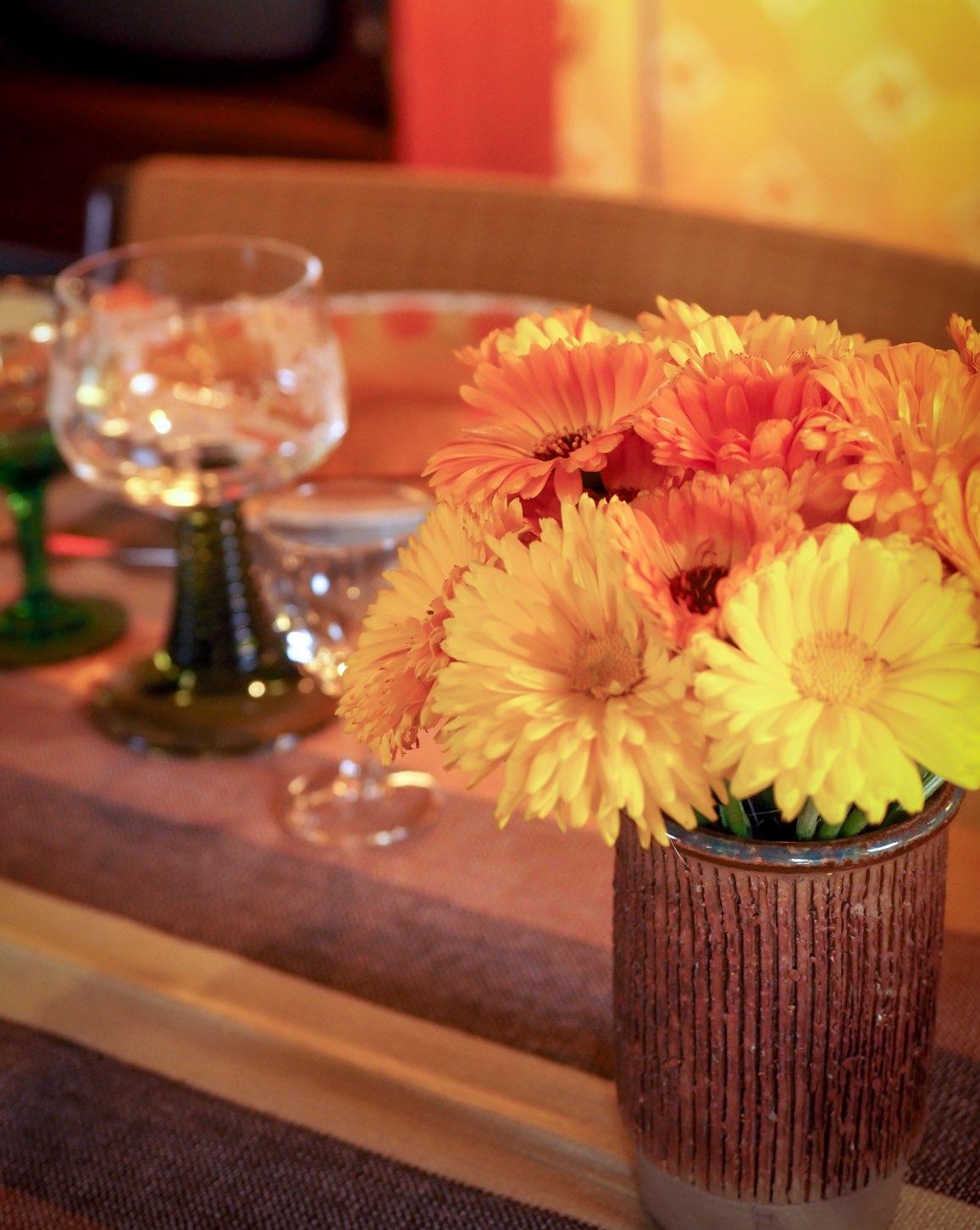 Blomster på bordet