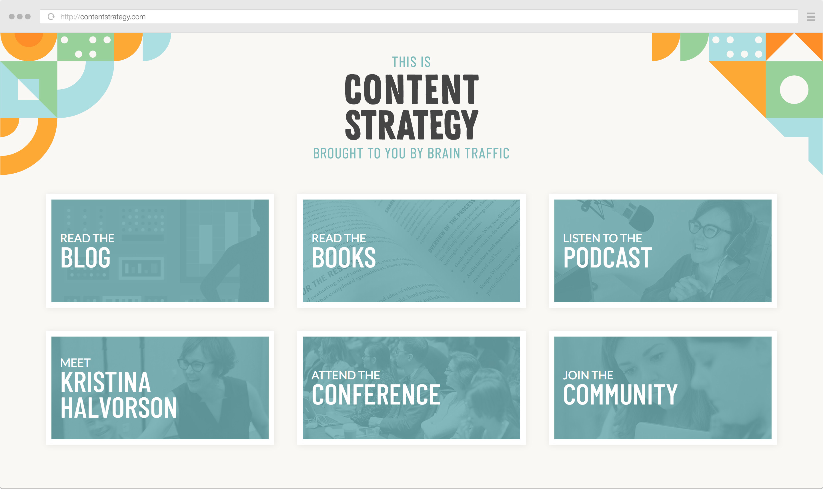 Content Strategy 2018 home page design