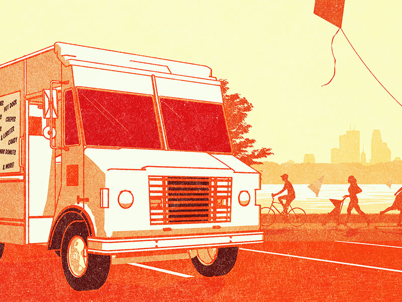 VitaMN Magazine food truck cover illustration