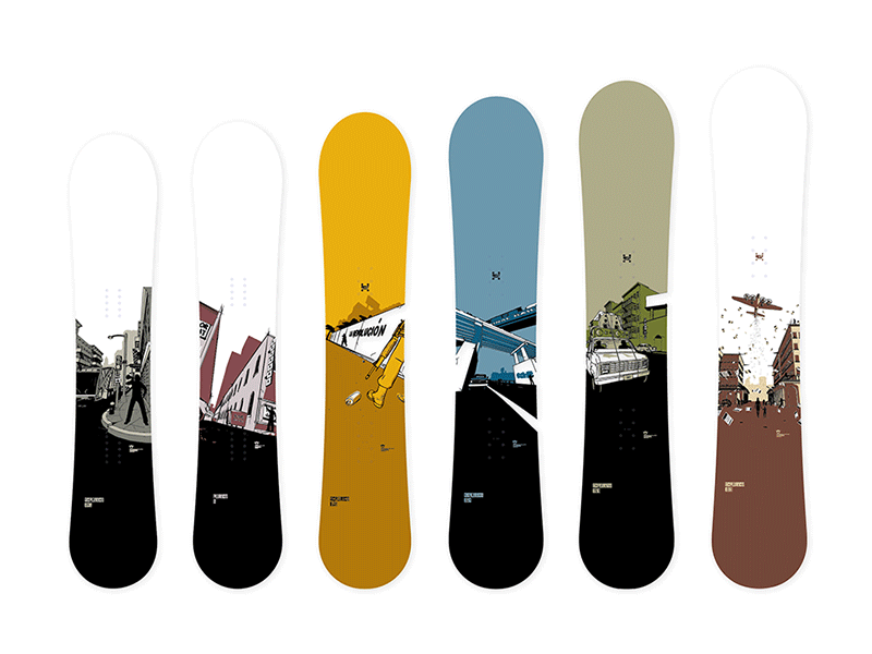 Rome Snowboards illustration