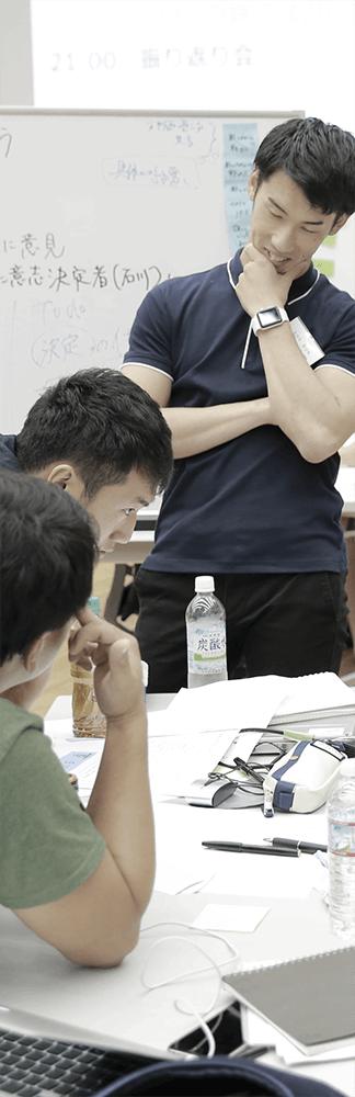 事業案について議論を交わすインターン参加学生達
