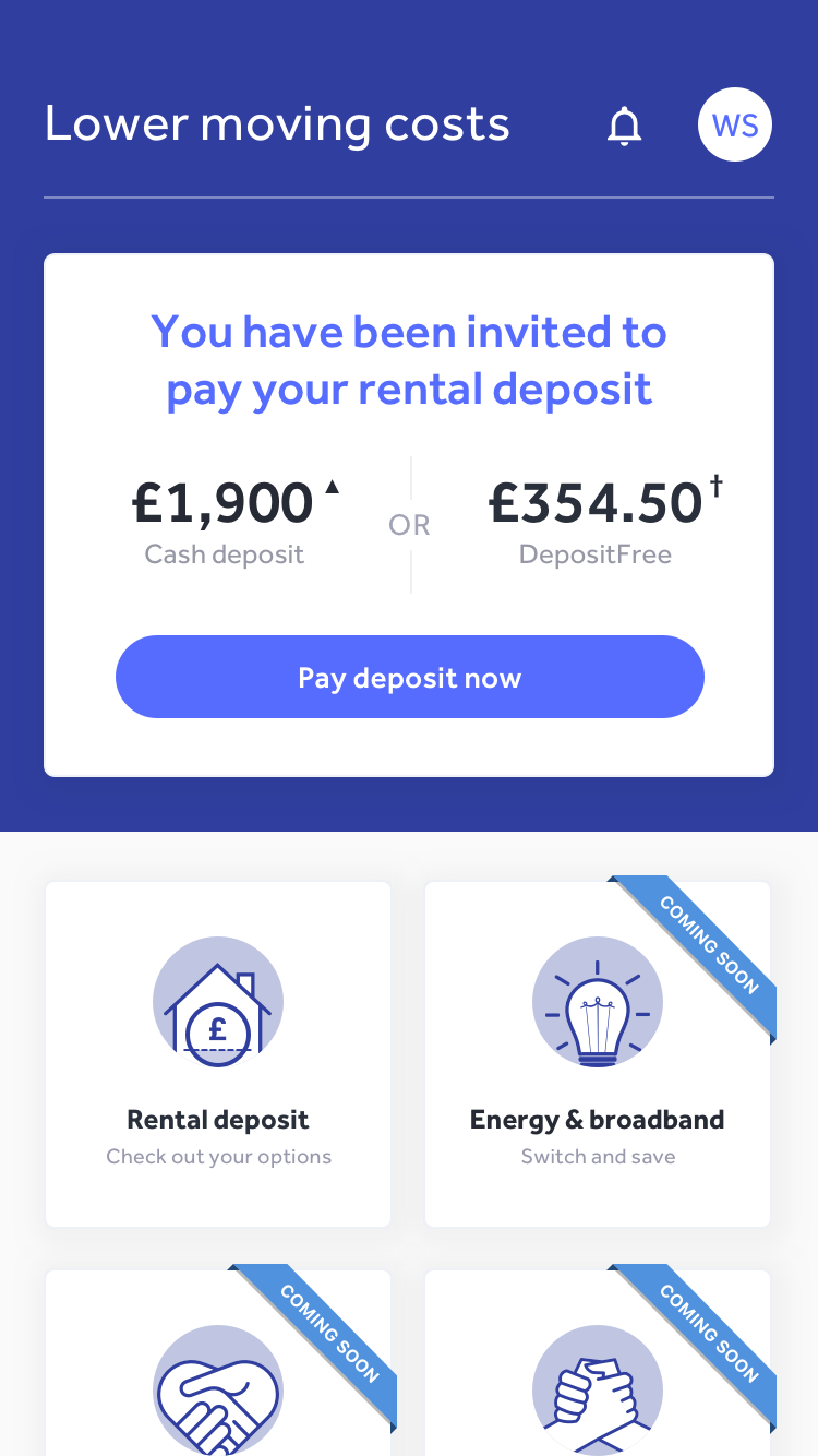 Canopy Deposit Free app screen