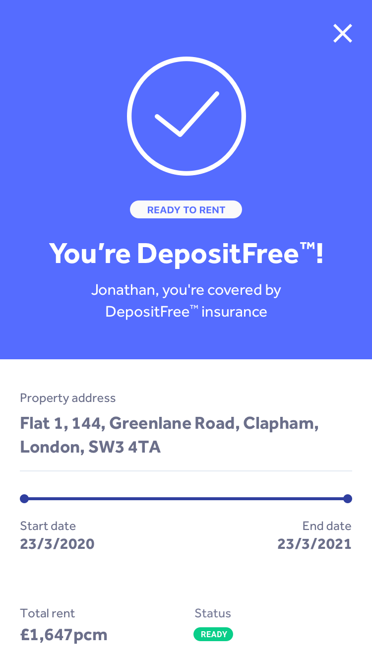 Canopy Deposit Free app screen
