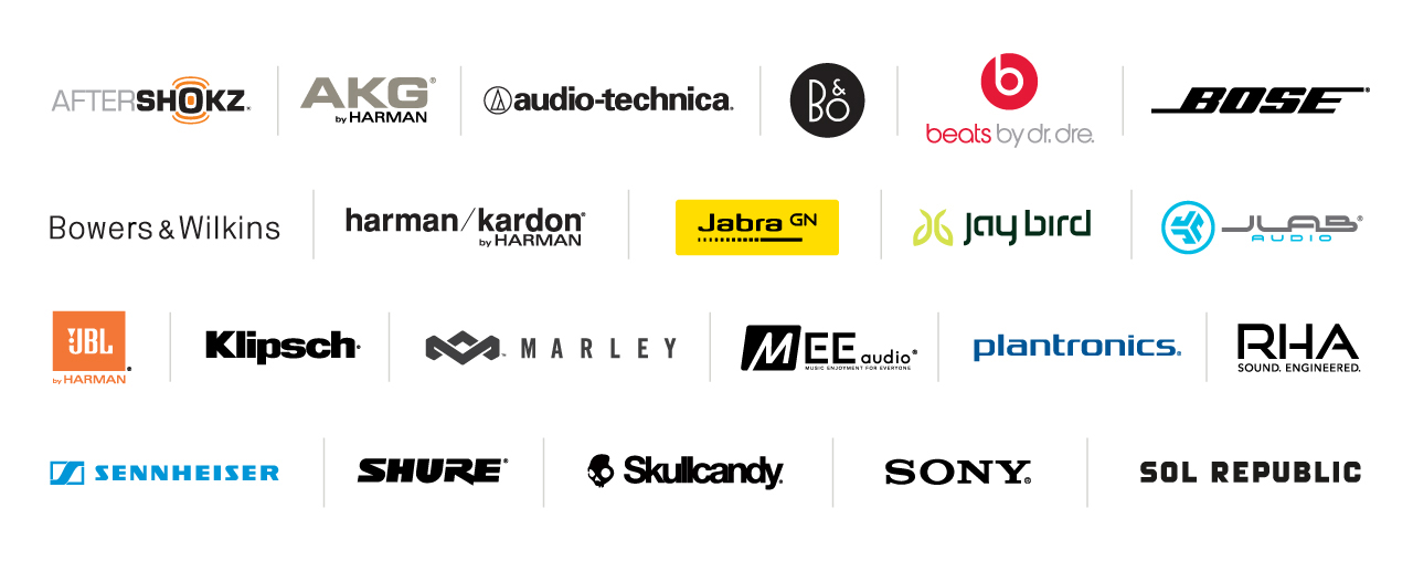 Headphone Brands of InMotion featuring Beats, Bose, Sony, & More