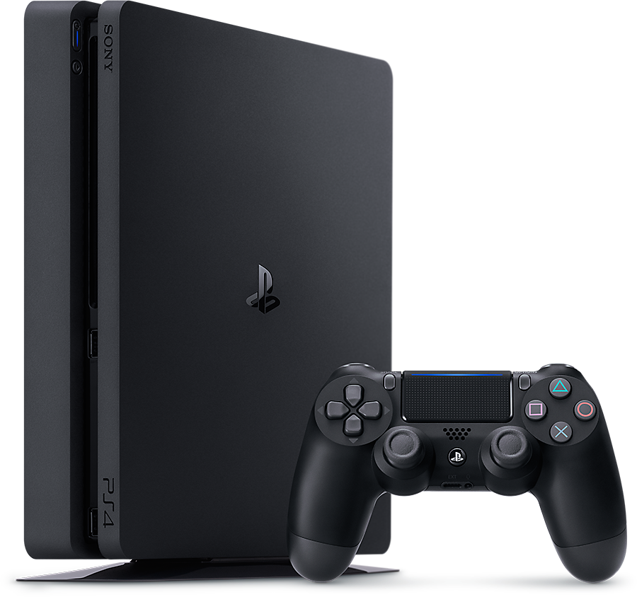 sony playstation 4 console and controller