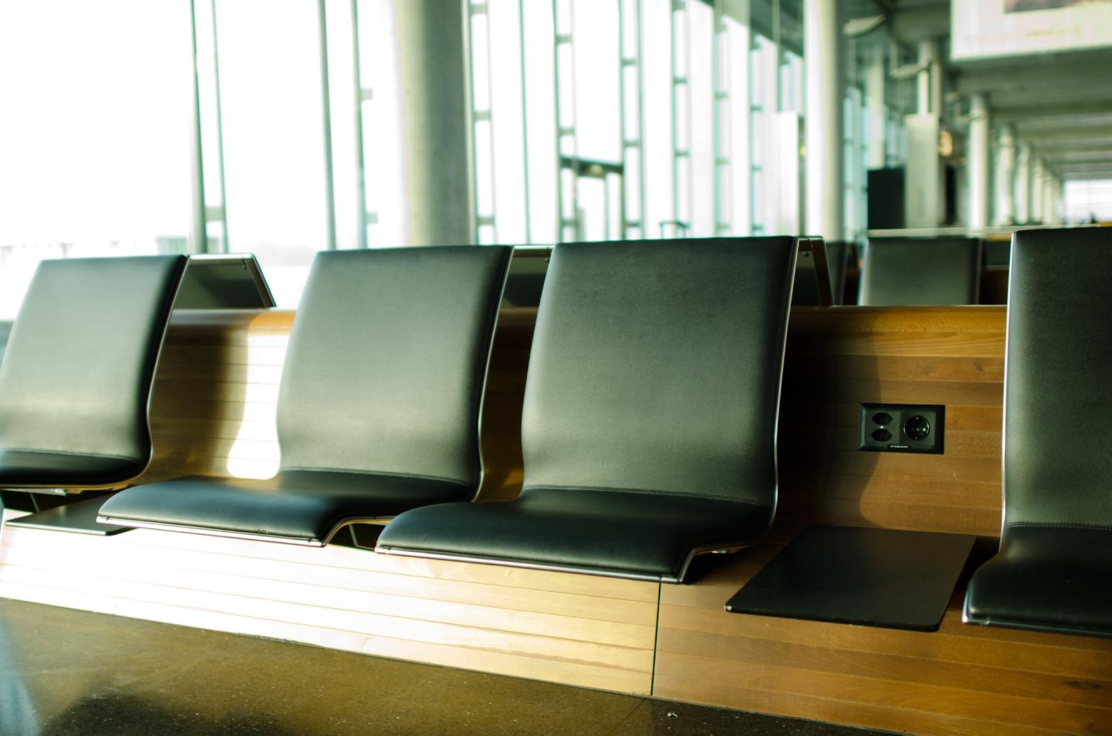 seats at an airport