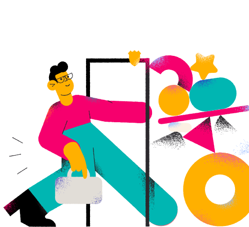 Man Moving out illustration