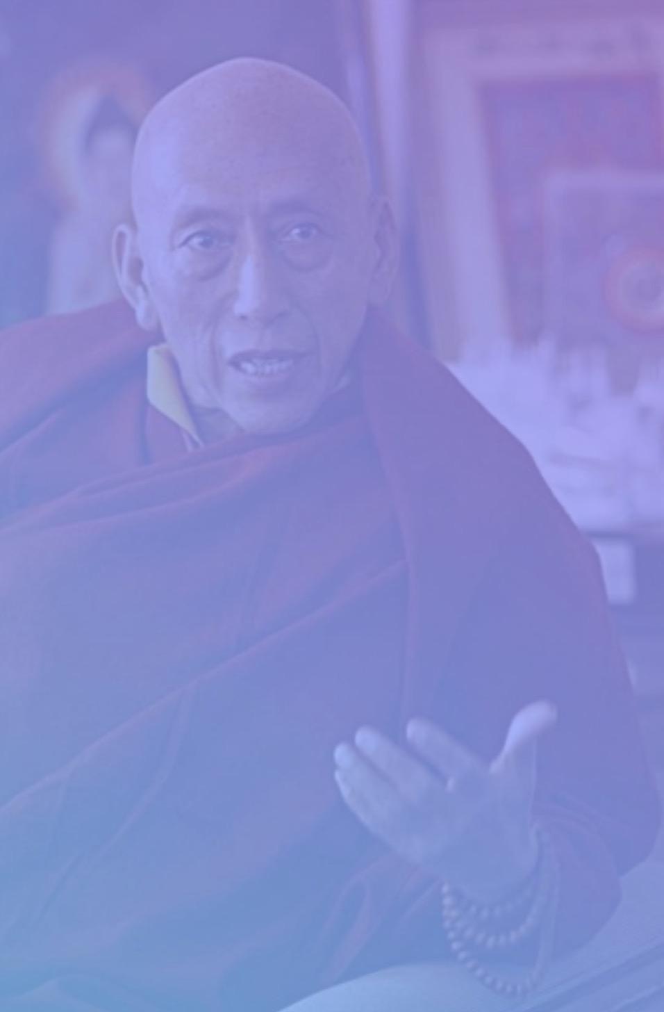 Samdhong Rinpoche, Tibetan buddhist monk, practicing mindfulness, counselor of the Dalai Lama