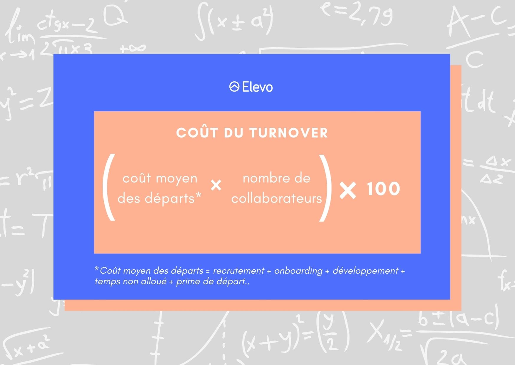 Formule du coût du turnover