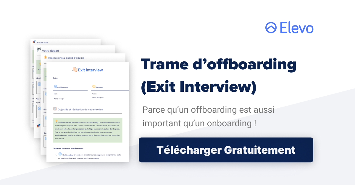 Trame d'offboarding (Exit Interview)