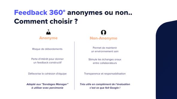 Feedback 360° : anonyme ou non ?