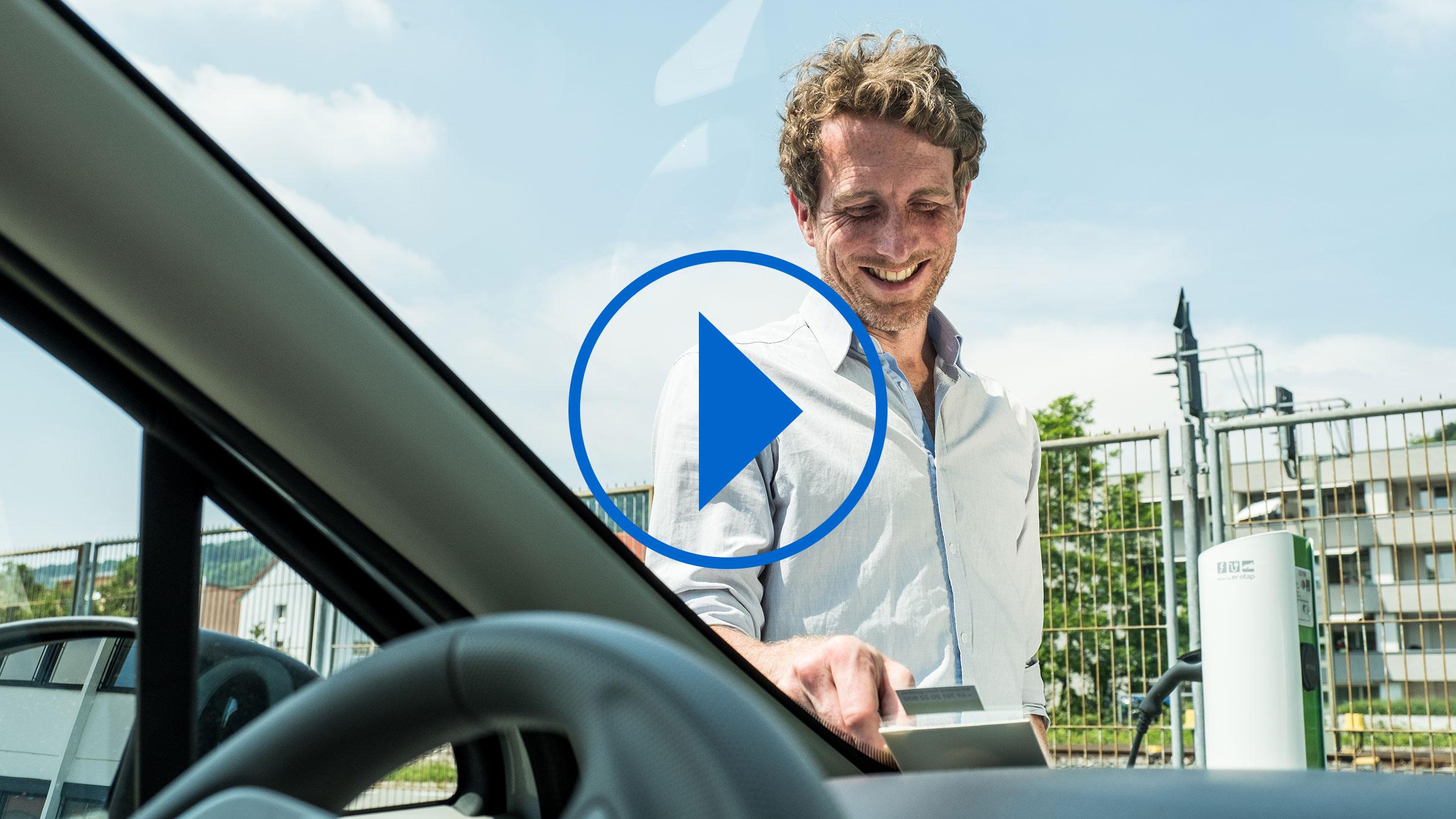 Photoshooting Fahrzeug öffnen für Roche