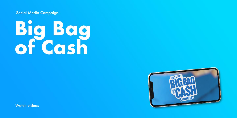 """Big Bag of Cash"" radio promos for Rogers Media"