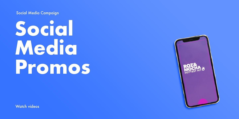 Various social media promos for the Roz & Mocha Show