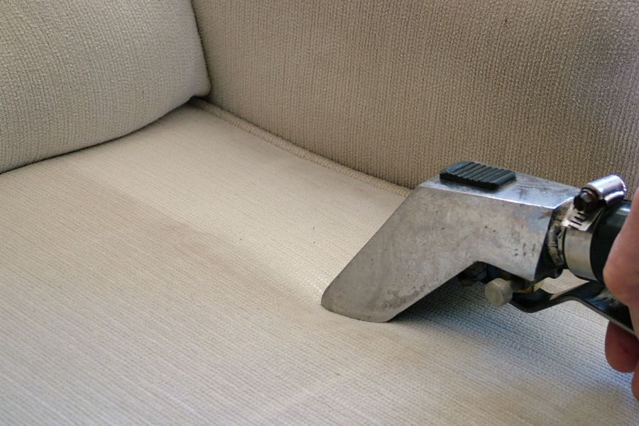 Upholstery being cleaned in Vancouver WA