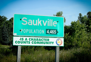 Saukville sign