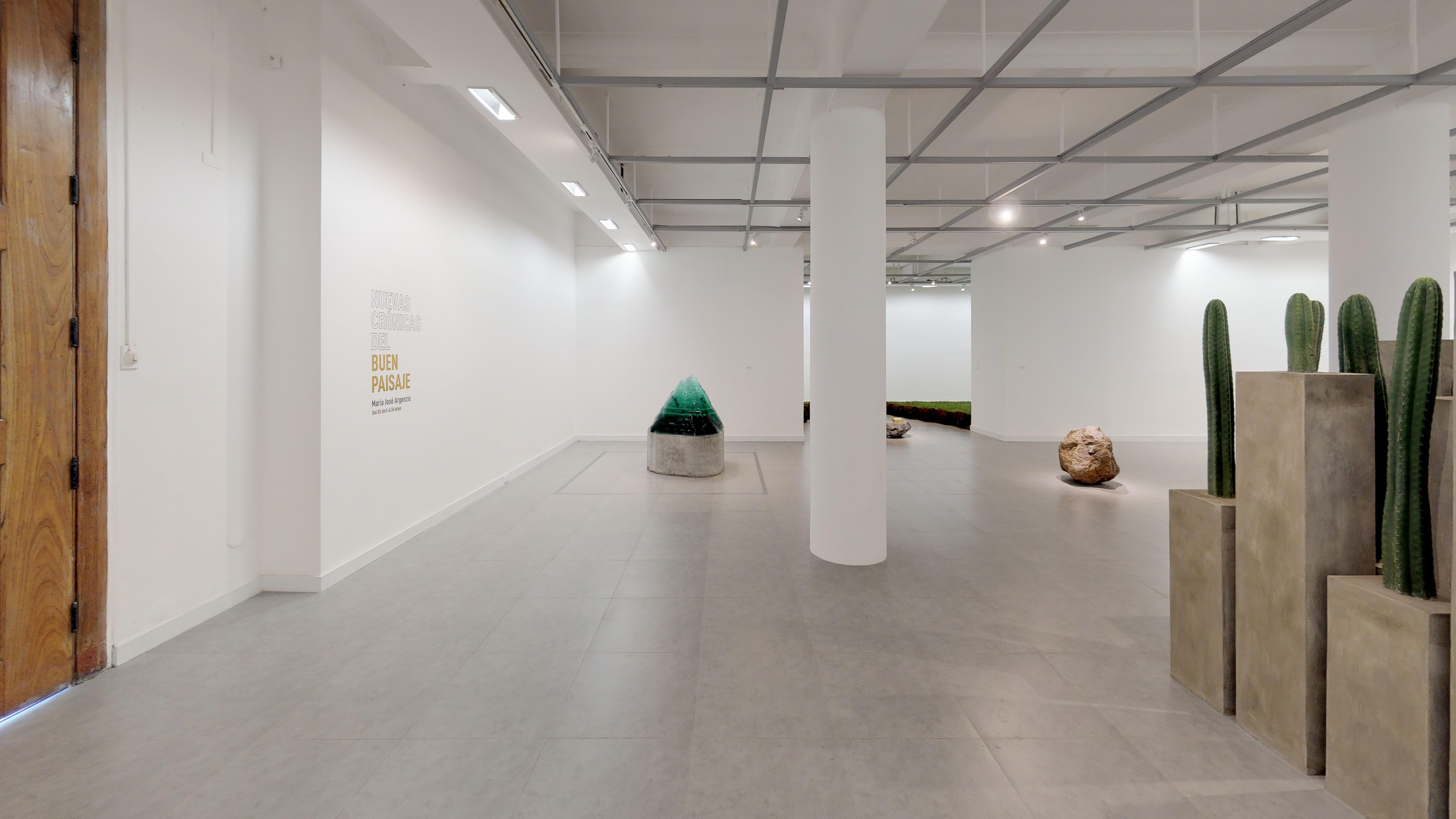 Entrada del recorrido virtual de la individual de la artista ecuatoriana María José Argenzio en la Sala Luis Miró Quesada Garland Miraflores Lima Perú 2019