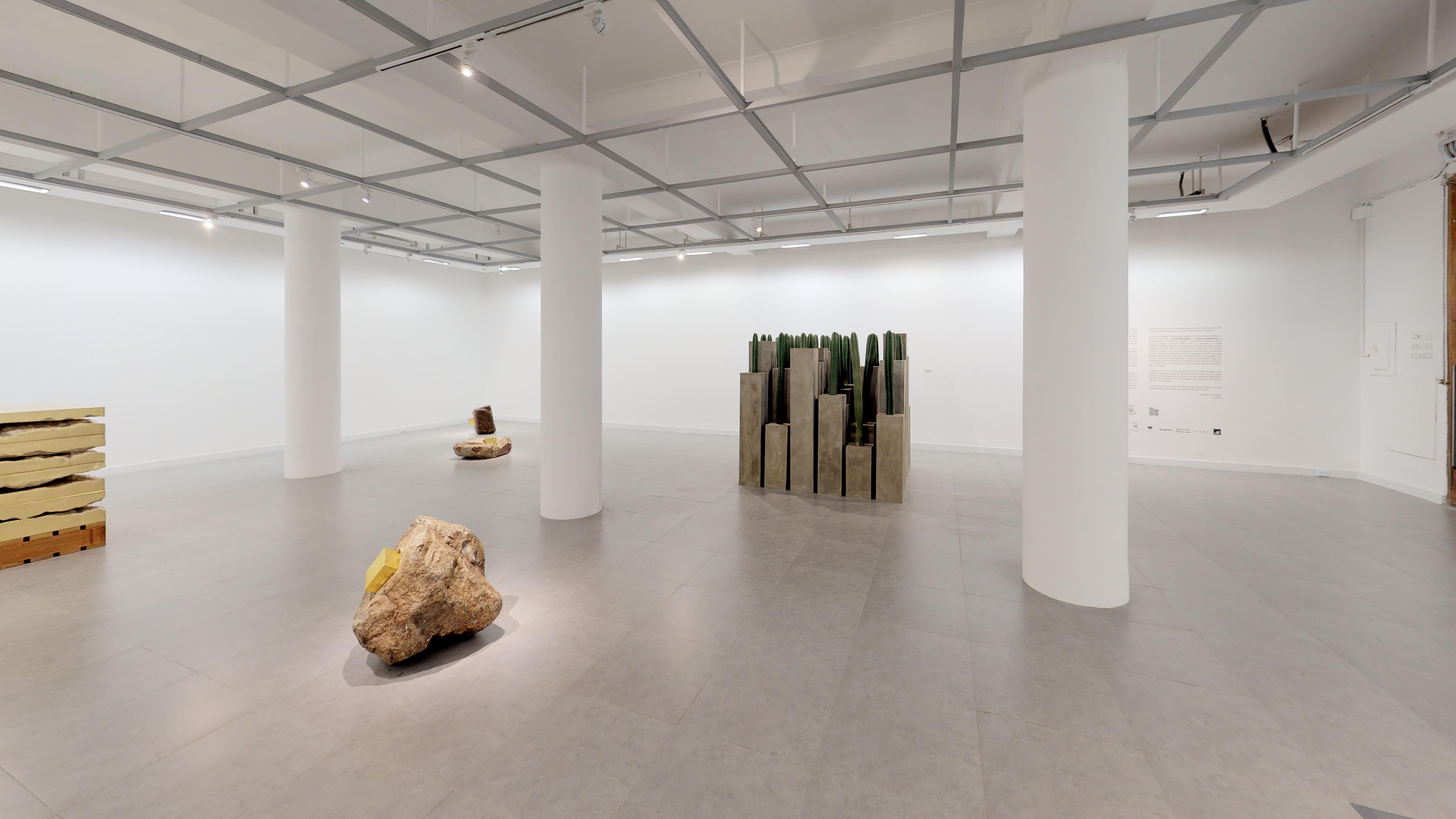 Interior del recorrido virtual de la individual de la artista ecuatoriana María José Argenzio en la Sala Luis Miró Quesada Garland Miraflores Lima Perú 2019