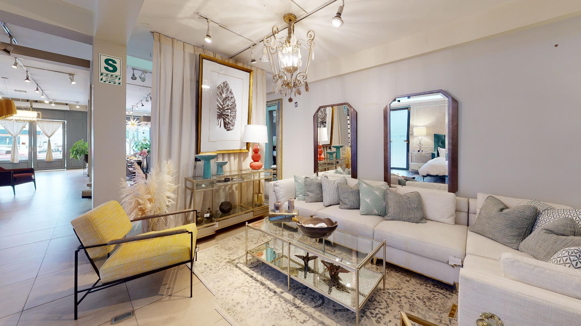Showroom del recorrido virtual casaviva home boutique, Santiago de Surco, Lima, Perú