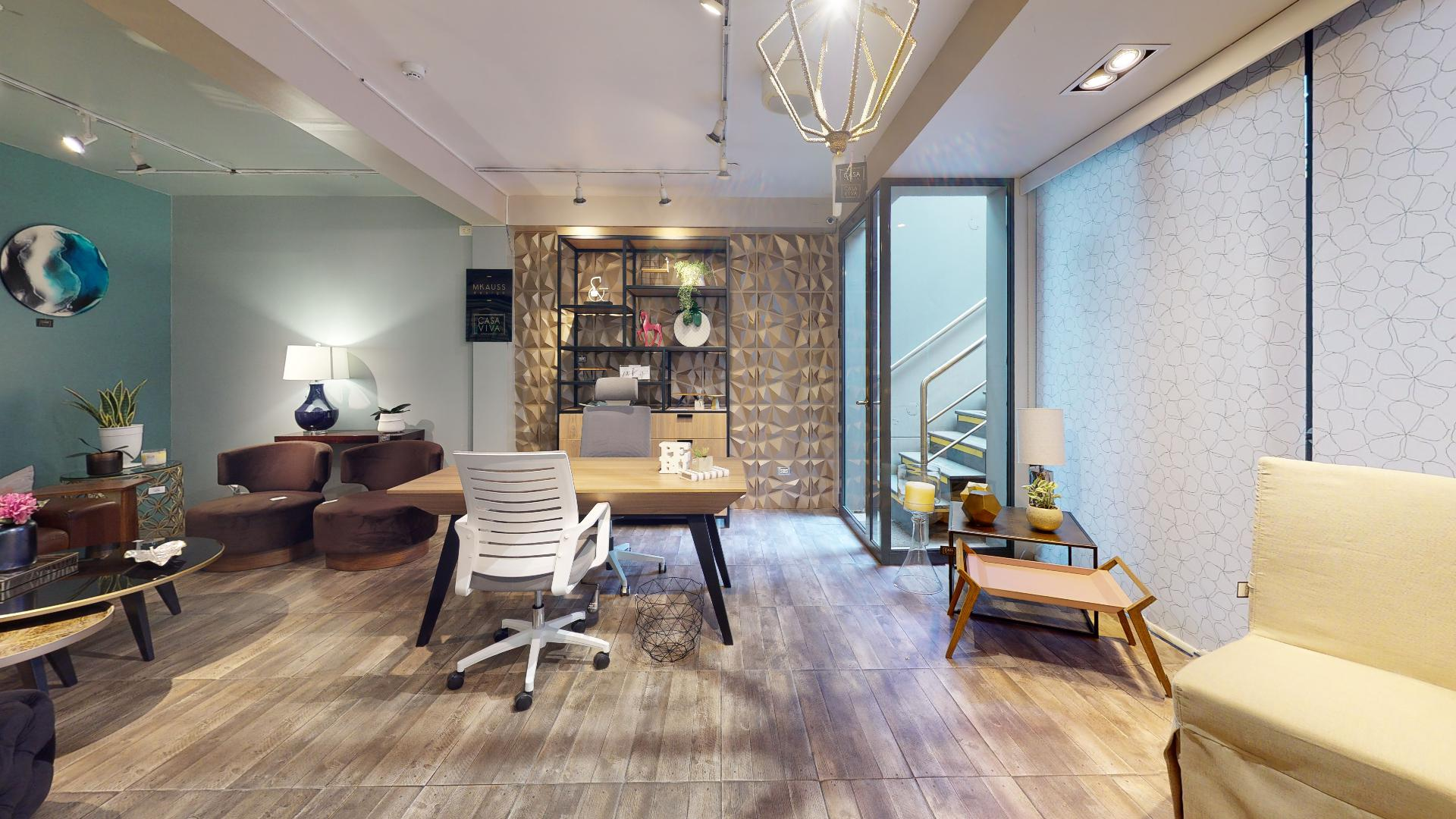 Showroom planta baja del recorrido virtual casaviva home boutique, Santiago de Surco, Lima, Perú