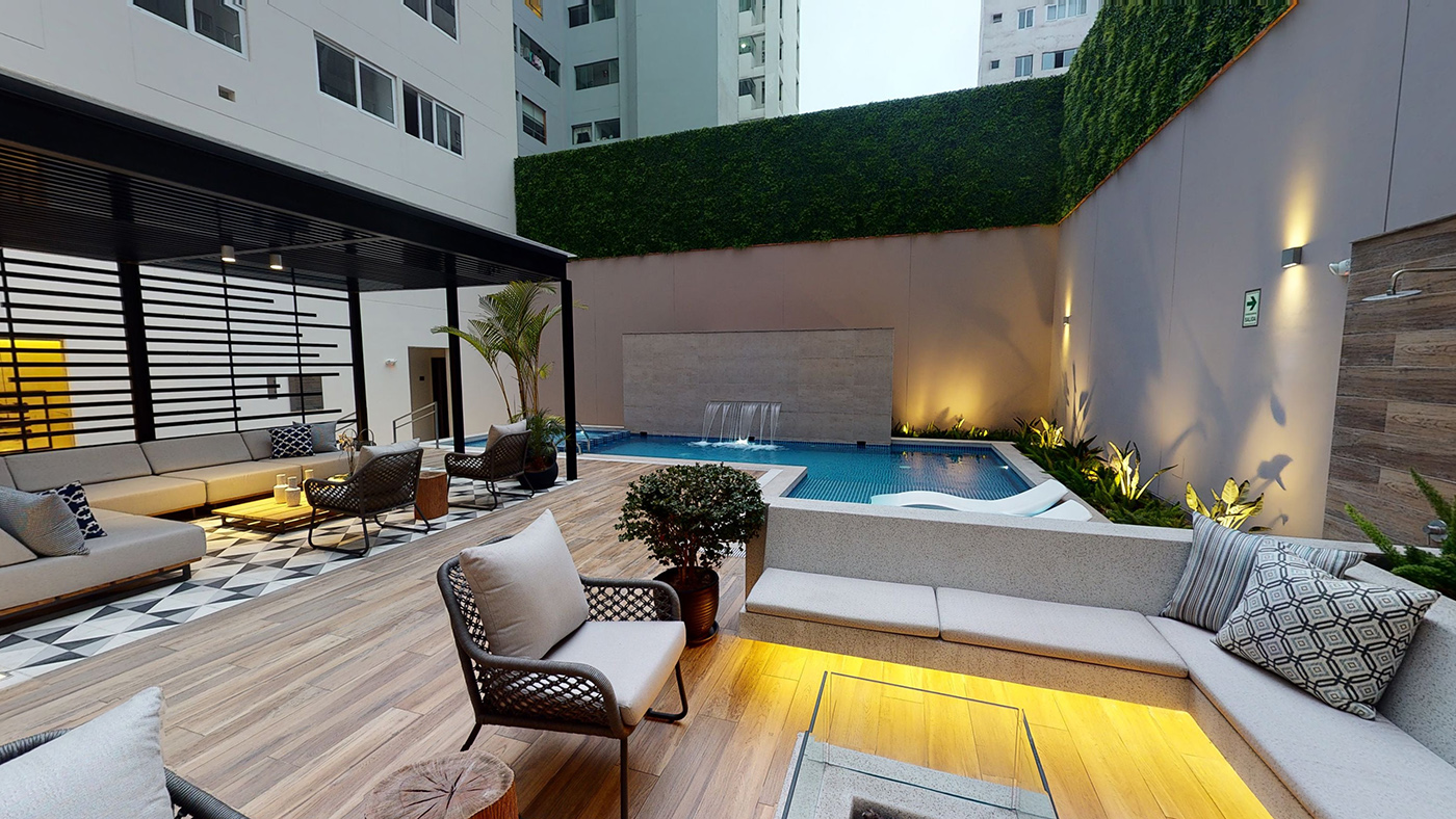 Terraza Proyecto Design Miraflores Imagina grupo inmobiliario Perú