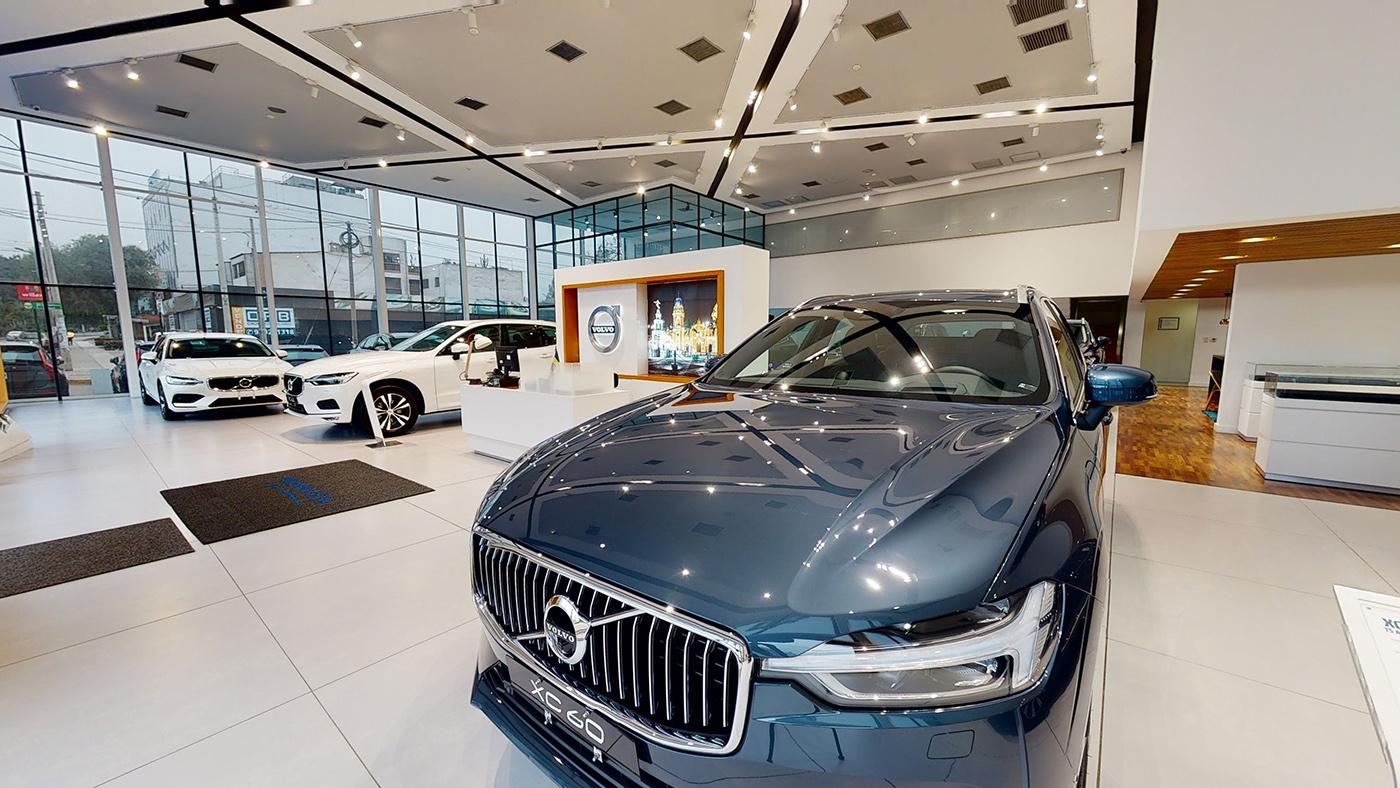 Imagen un auto exhibido en de Volvo Cars Peru, la Molina, Lima