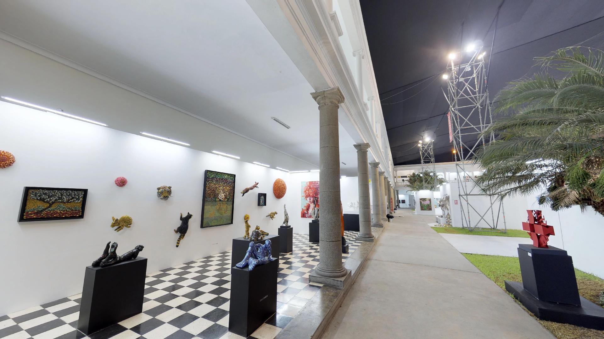 Entrada del recorrido virtual de la feria Art Lima en Barranco Lima Perú 2018