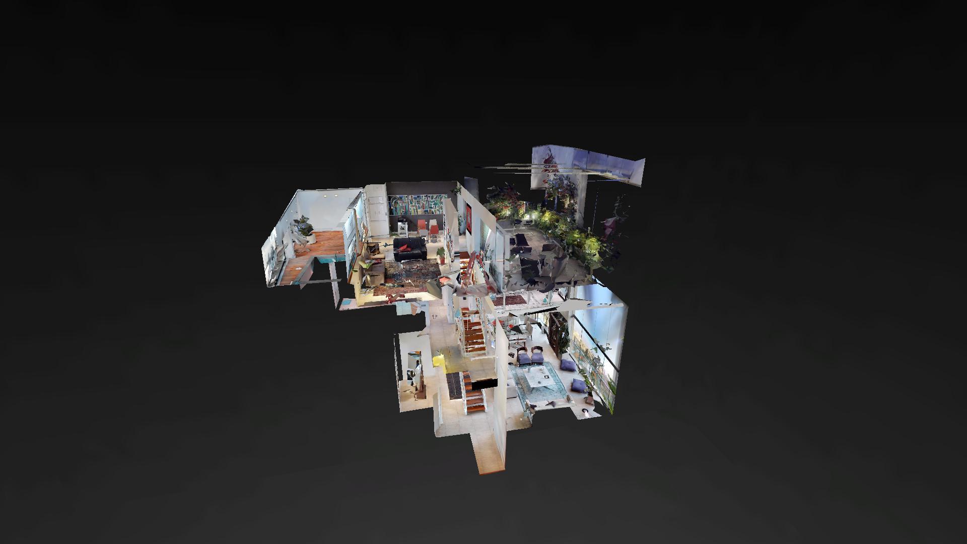 Recorrido virtual en la sala del penthouse malecon balta miraflores, Lima, Peru