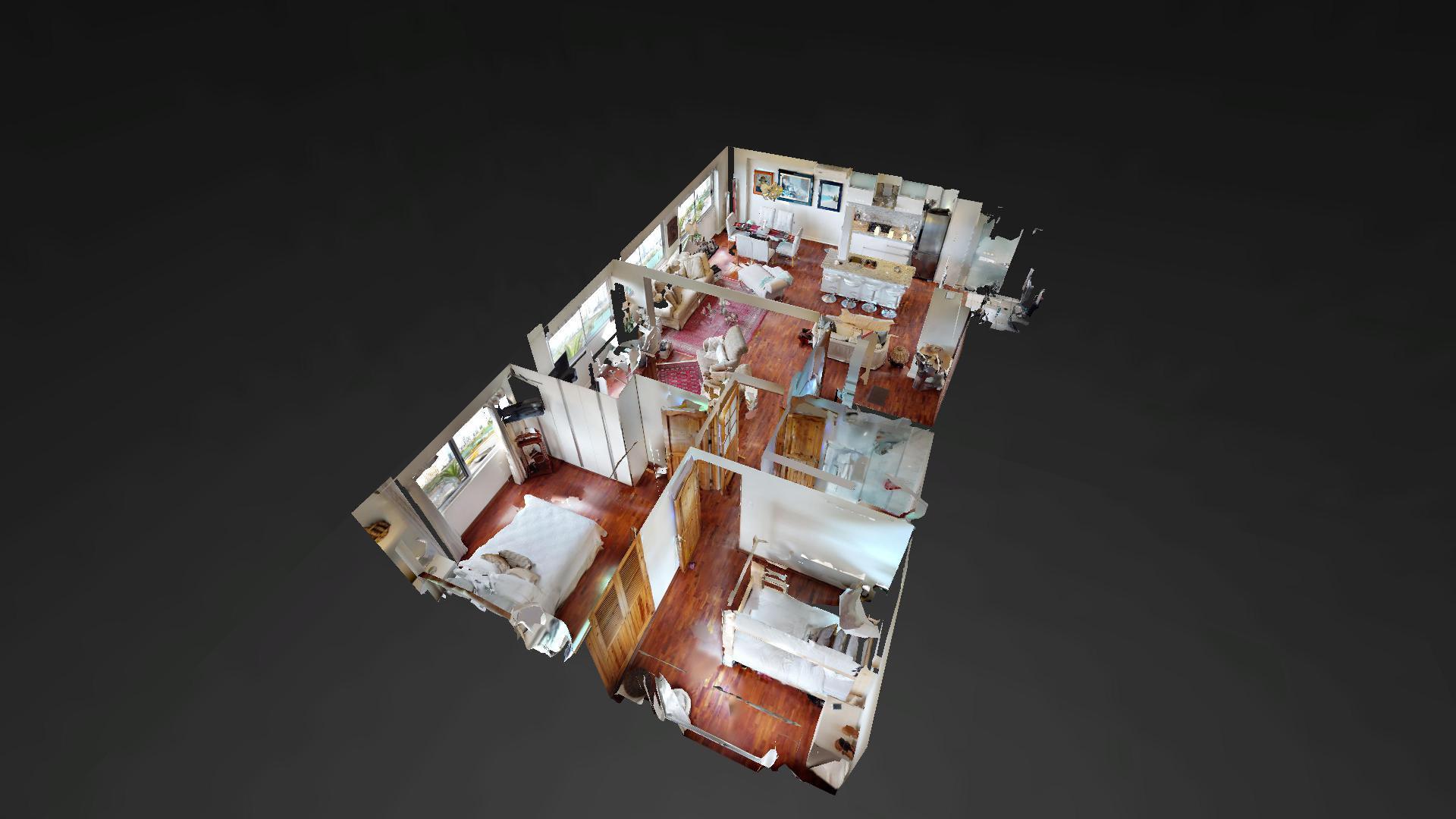 Vista dollhouse de un departamento en Malecón 28 de Julio 489, Miraflores 15074, Perú