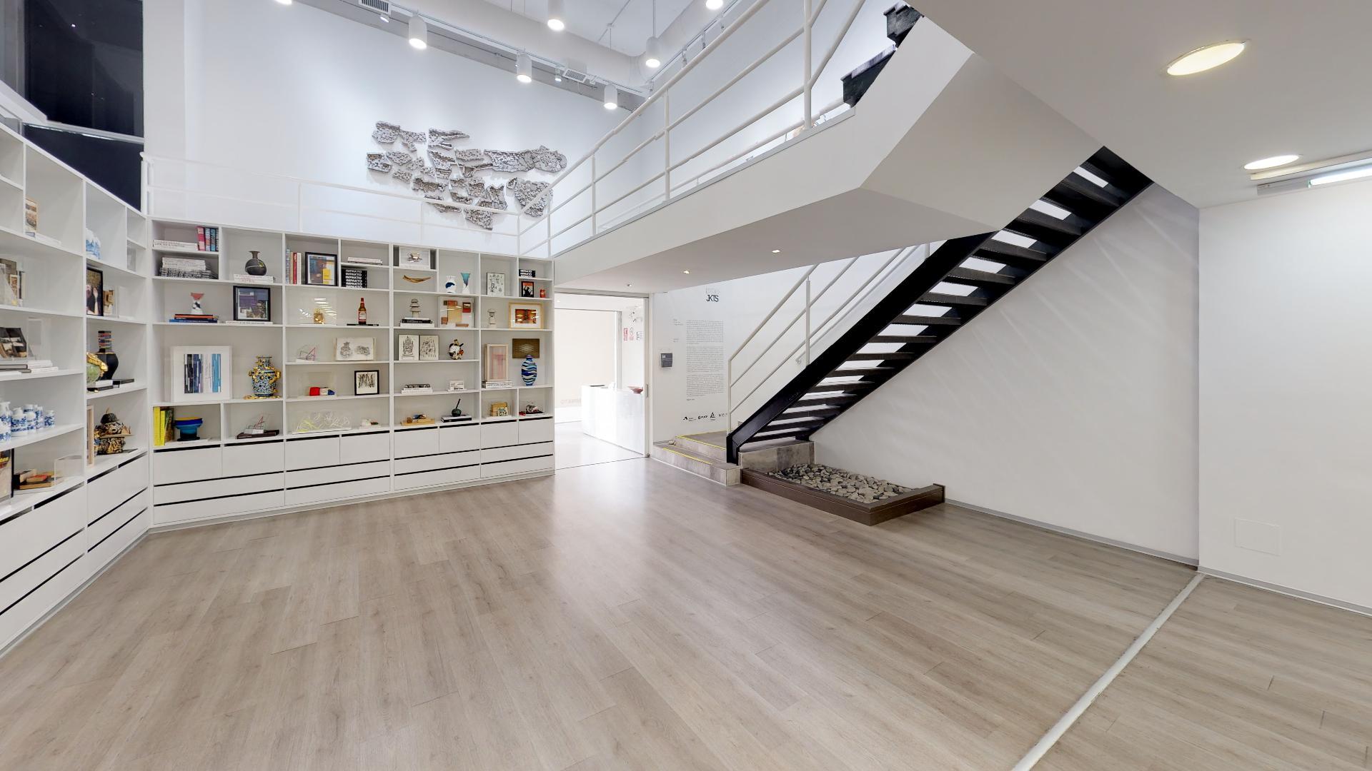 Sala de exposiciones de la galería Impakto en Miraflores, Lima, Perú