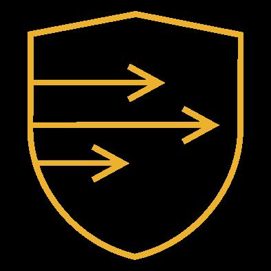 Icon of three speedy arrows