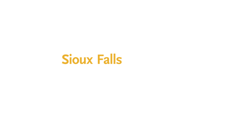 Logo of University of Northwestern located in Sioux Falls, and logo of Life 96.5