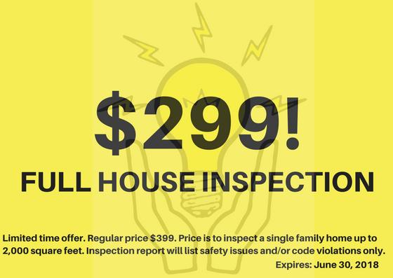 $299 for a full house inspection