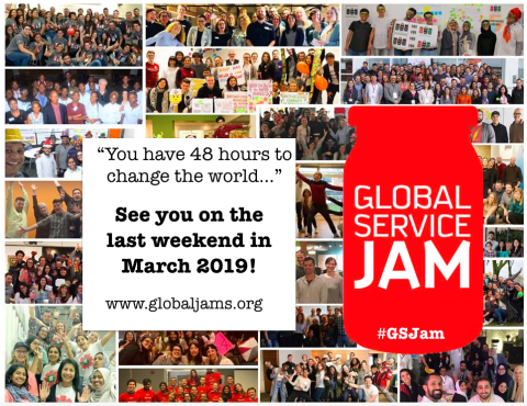 The world's biggest design focussed innovation event is back, and it's going to be better than ever! Join the Global Service Jam in more than 100 cities worldwide on thelast weekend* of March, 2019!