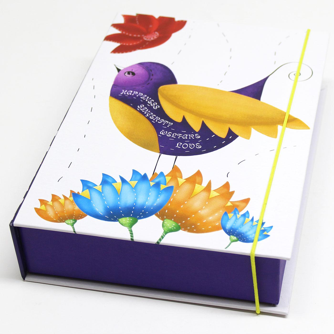 Подарочная коробка-книга с принтом