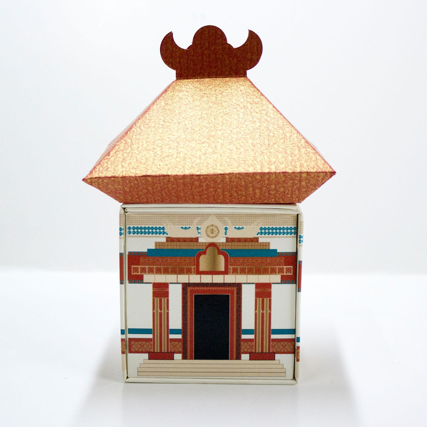 Коробка домик в виде пагоды