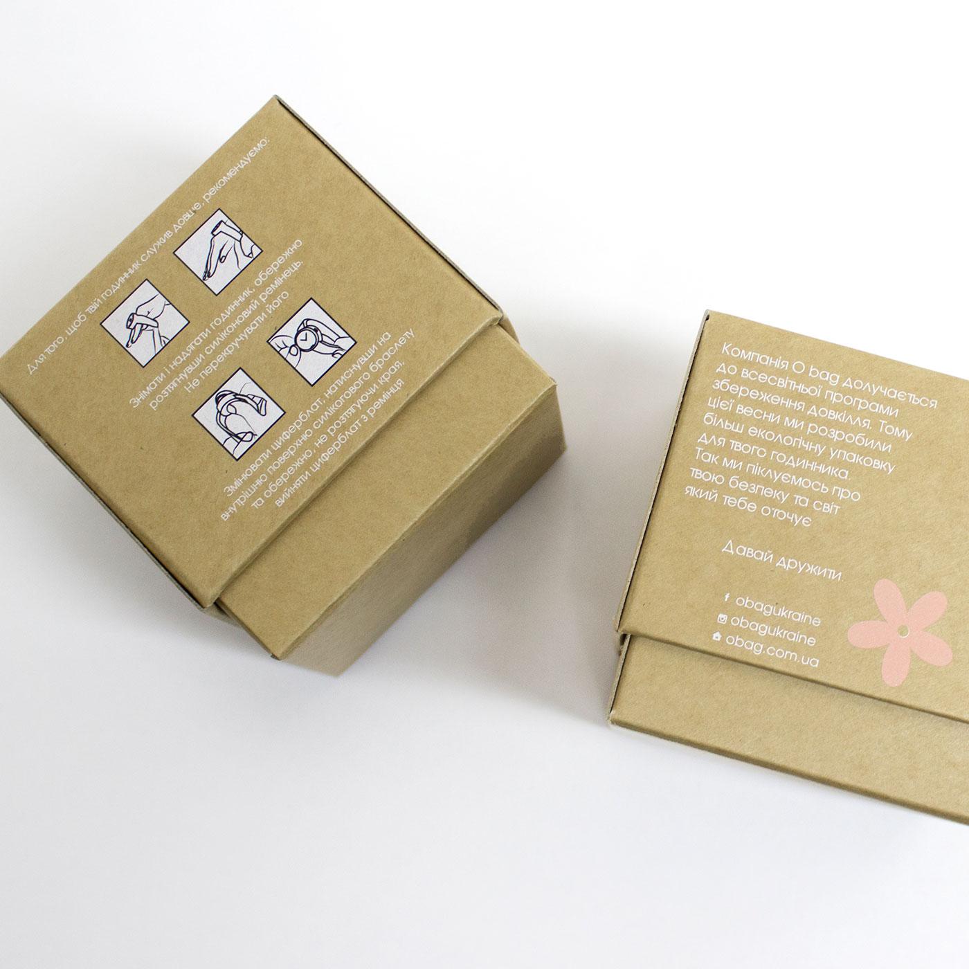 Кубик из крафт картона