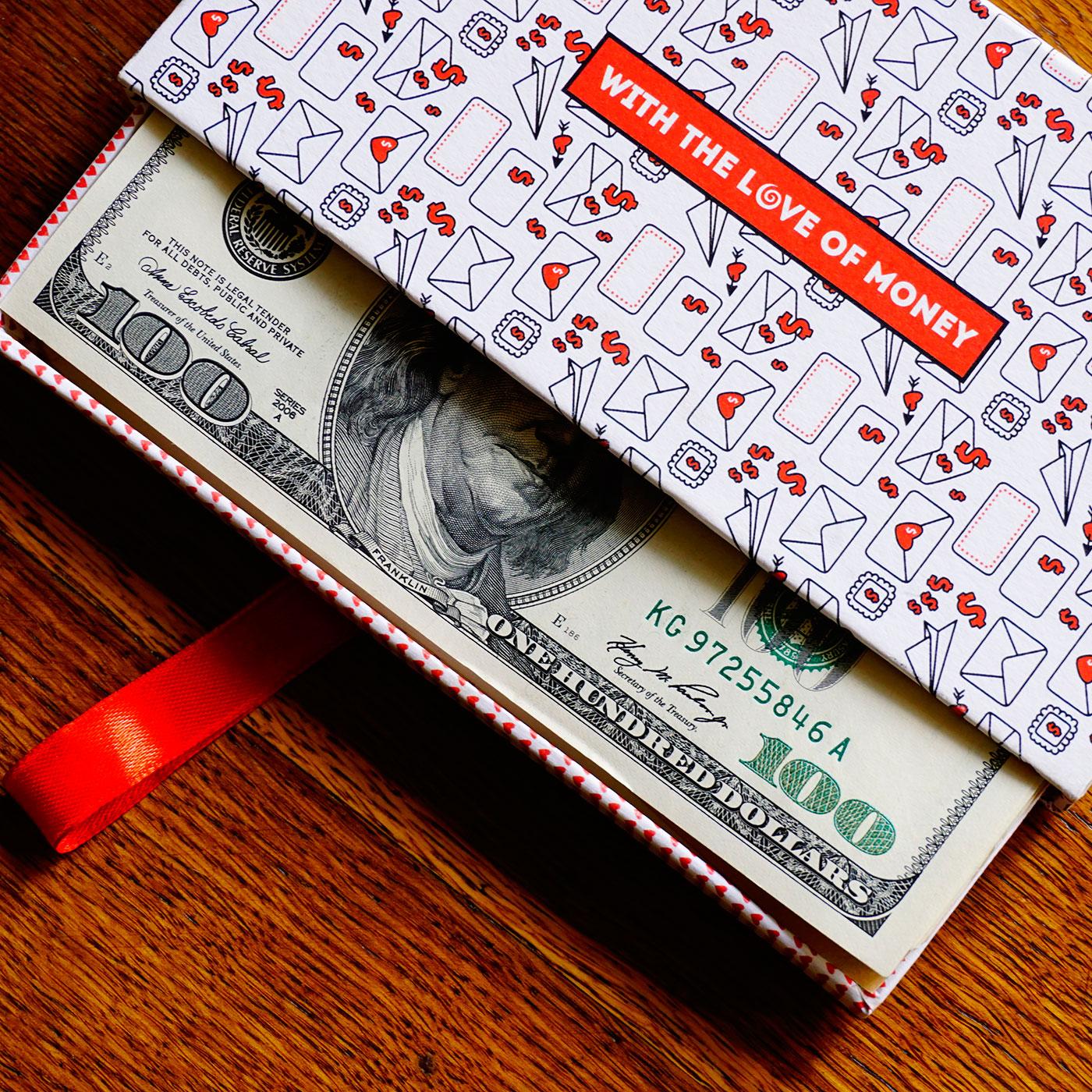 """Кашированная коробка слайдер """"Money"""""""