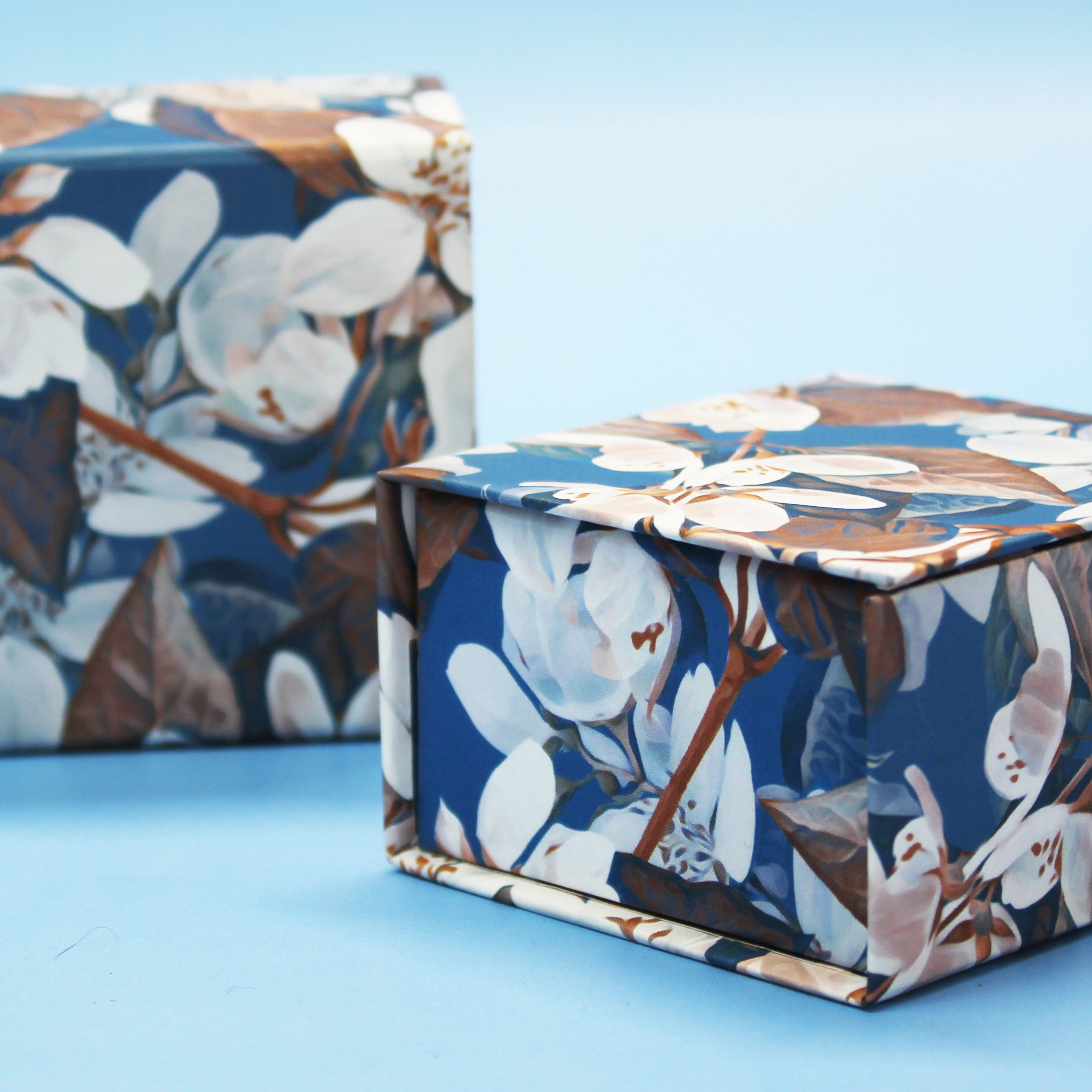 Небольшие ювелирные коробочки с цветочным дизайном