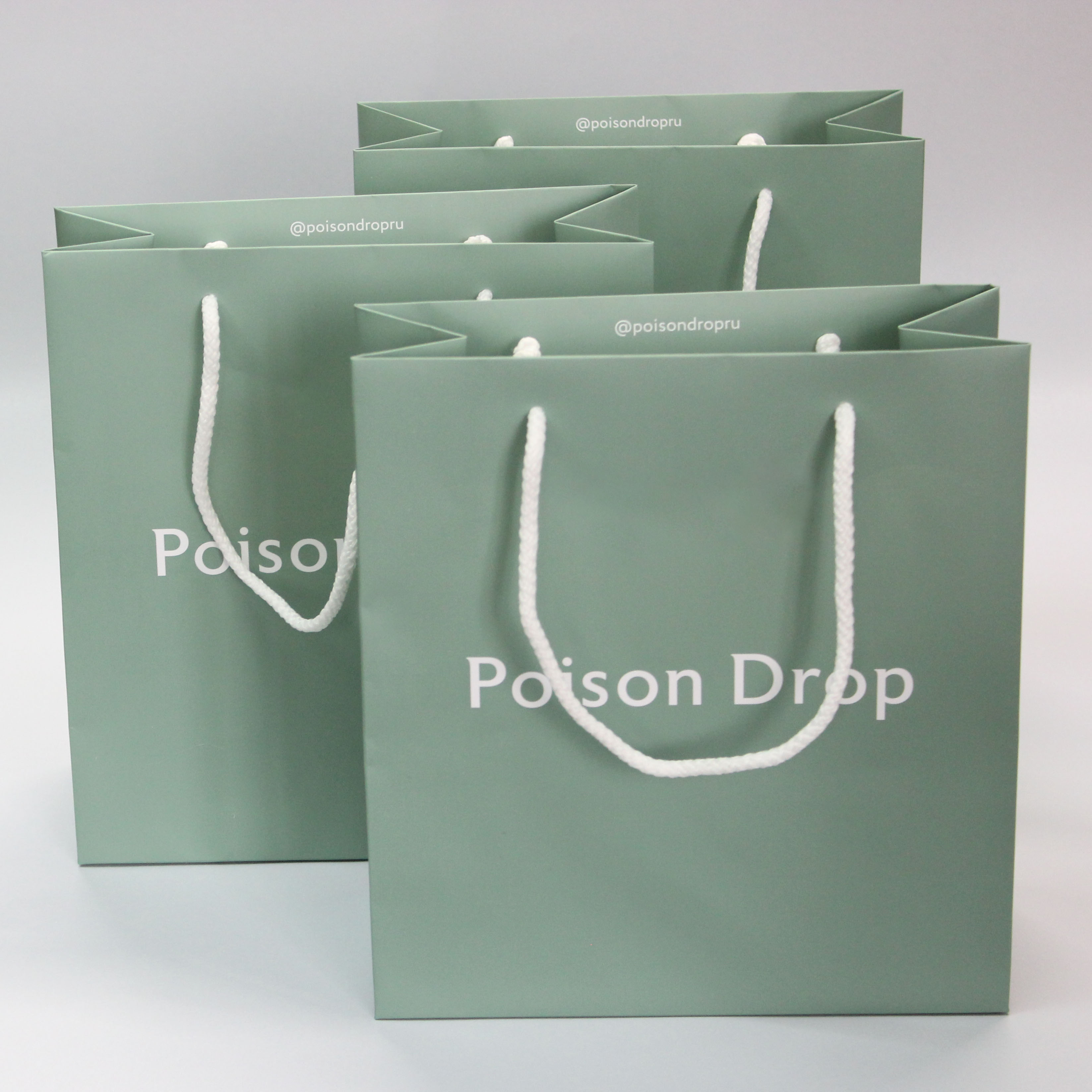 Зеленый пакет для украшений