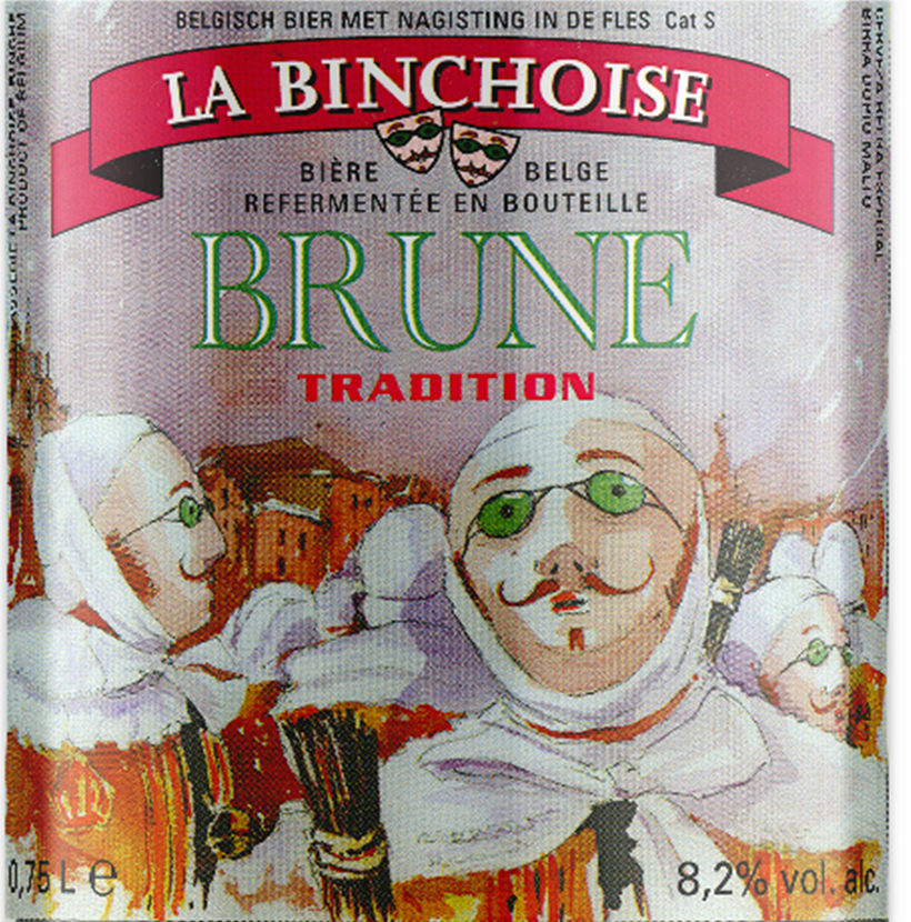 Label La Binchoise Brune