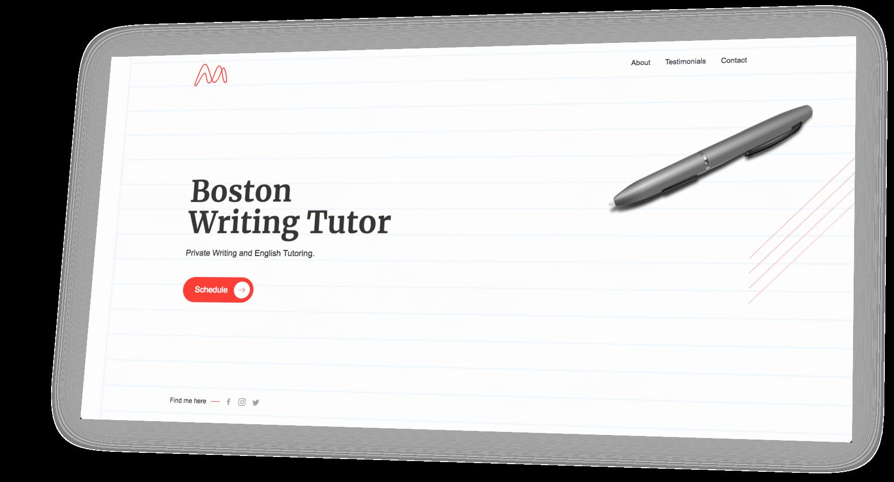 Website Designer for teachers and tutors.