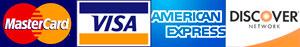 Mastercard Visa AMEX Discover