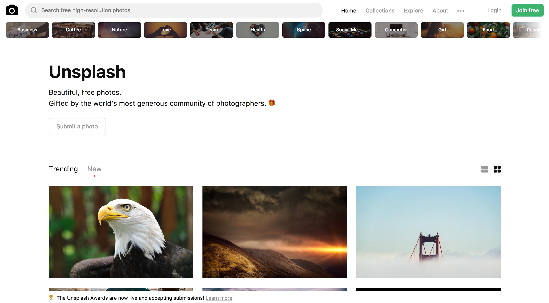 sites de photos gratuites et de qualité