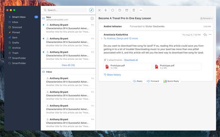 Outil Spark pour mieux gérer ses mails