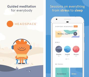 Headspace meilleures applications gratuites pour méditer