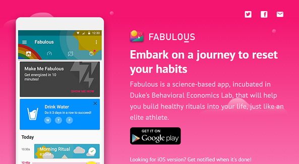 Fabulous meilleures applications gratuites de motivation