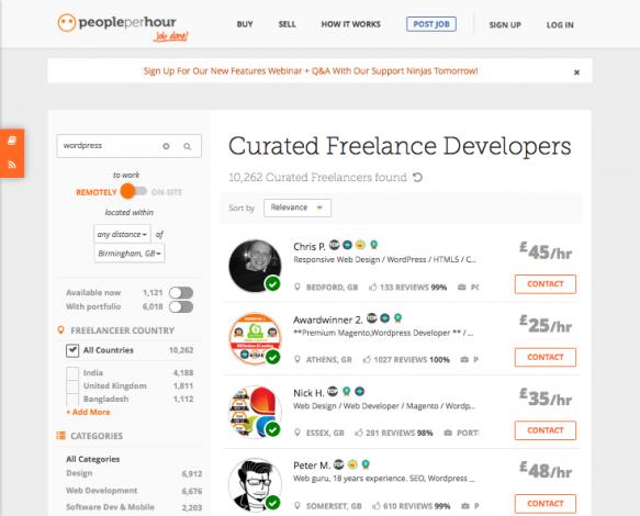 People per Hour, l'un des meilleurs sites pour trouver un freelance rapidement