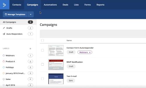 ActiveCampaign - Meilleure alternative Mailchimp