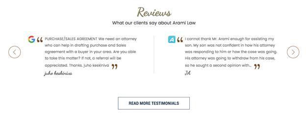 Best Law Firm Websites Share Customer Testimonials